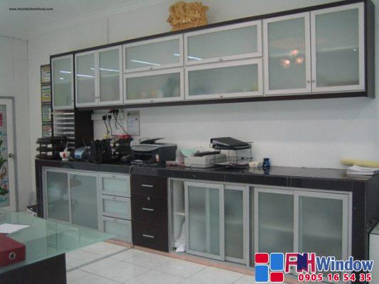 mẫu tủ bếp nhôm kính tại Đà Nẵng, Huế, Hội An, Quảng Nam, Quảng Ngãi, Quảng Trị, Hà Tĩnh, Quảng Bình..